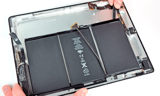 ремонт и замена батареи в ipad